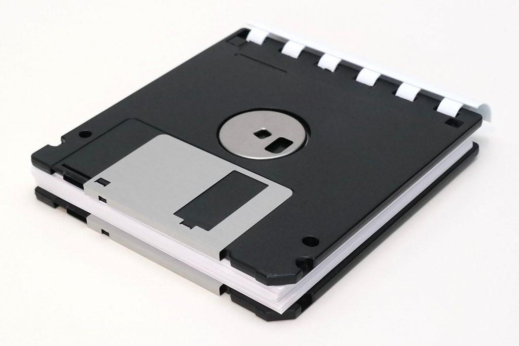 3,5-Zoll Disketten-Notizblock, Unterseite