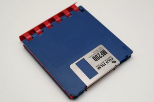 3,5-Zoll Floppy Disk Notizblock / Ringbuch (Blau/Rot)