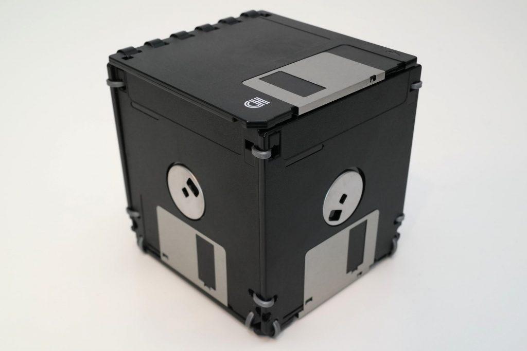 3 ½ Zoll Aufbewahrung-Box aus Disketten (Schwarz/Silber)