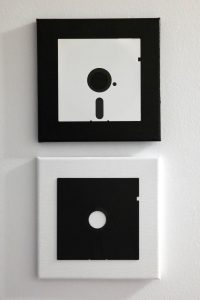 Black & White - Floppy Art