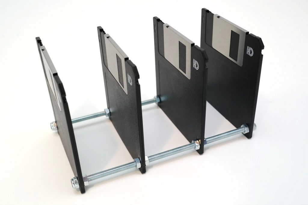 Briefsortierer aus 3,5-Zoll Disketten