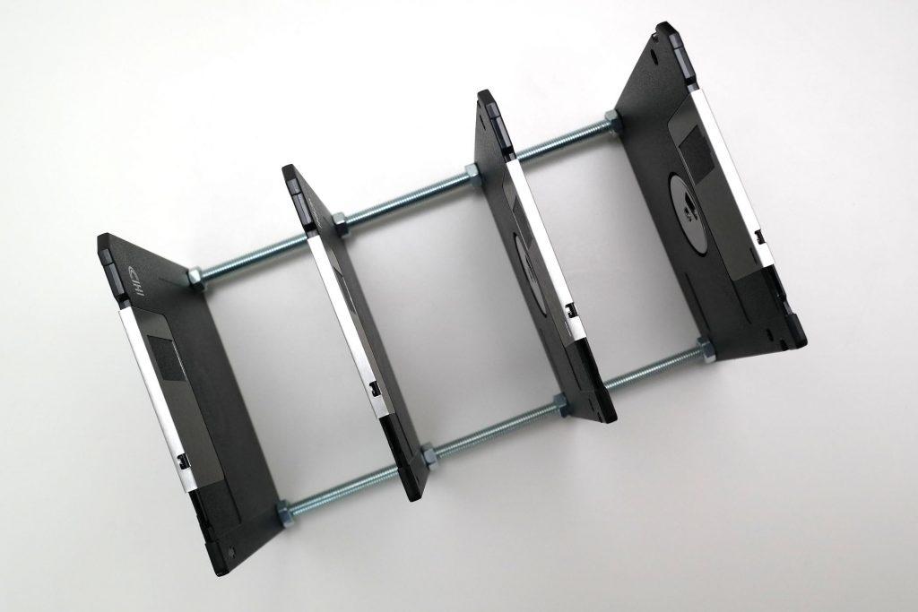 Floppy-Disk Briefsortierer, Ansicht von oben