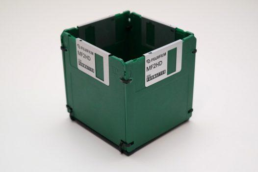 Floppy-Disk Stifthalter in Grün