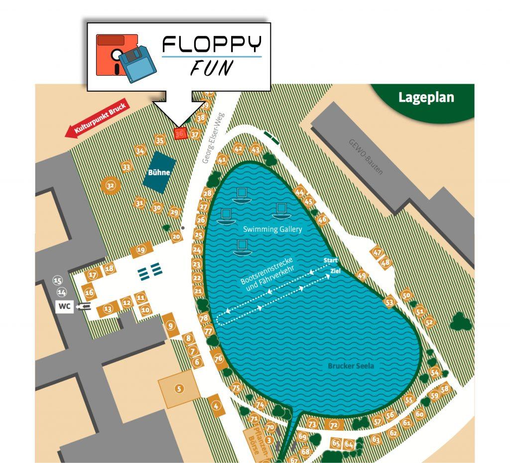 Grüne Art 2017 - Lageplan Floppy-Fun