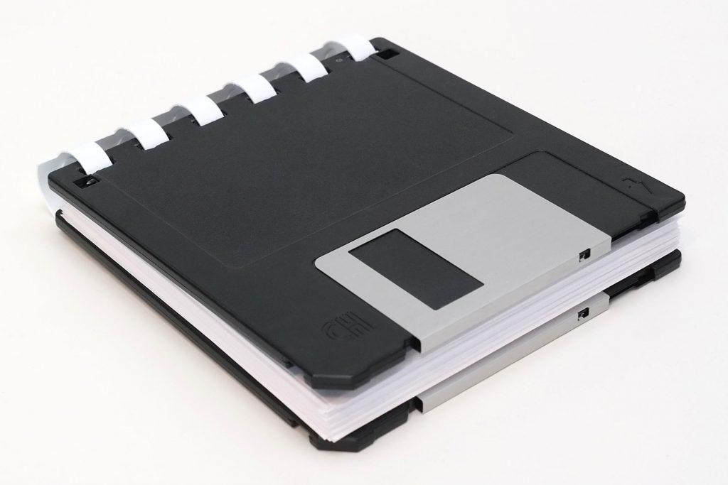 Kleiner Disketten-Notizblock 3,5-Zoll (Schwarz/Weiß)